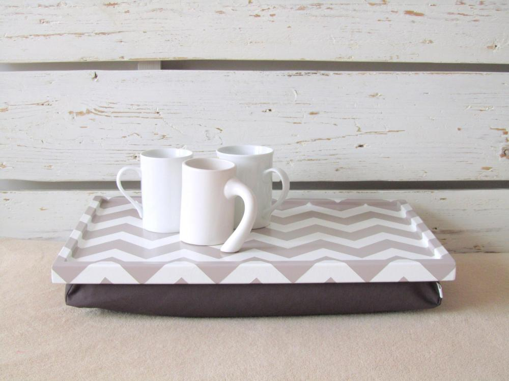Lap Desk - Chevron zig zag print on Desk- Custom Order