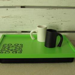 Personalized Laptop Lap Desk - hand made drawing on tray - Custom Order